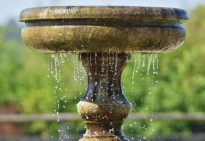 fountain, drip, water